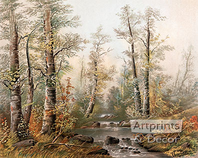 Fall Splendor by William Henry Chandler - Framed Art Print