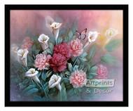 Carnations by T.C. Chiu - Framed Art Print