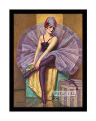 The Violet Butterfly - Framed Art Print