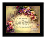 To My Mother - Framed Art Print