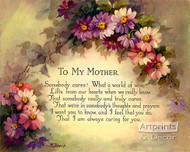 To My Mother - Art Print