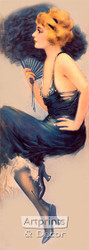 Lady in Blue by Hamilton King - Art Print