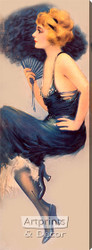 Lady in Blue by Hamilton King - Stretched Canvas Art Print
