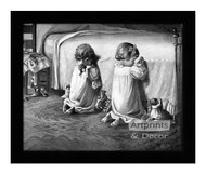 Little Tots Prayer - Framed Art Print