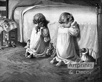 Little Tots Prayer - Art Print
