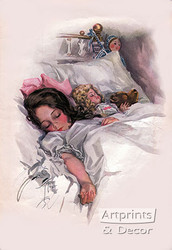 Asleep by Harrison Fisher - Art Print