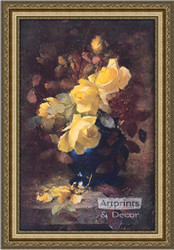 Roses by Frans Mortelmans - Framed Art Print