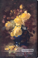 Roses by Frans Mortelmans - Stretched Canvas Art Print