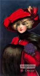 Natalie by Hamilton King - Art Print