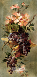 Vineyard Floral by G. Lynch - Art Print