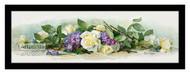 Bride Roses & Violets by Paul de Longpre - Framed Art Print