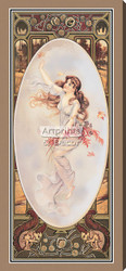 The Four Seasons - Fall by Maud Humphrey - Stretched Canvas Art Print