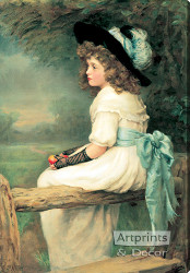 A Daughter of Eve by Edward Patry - Stretched Canvas Art Print