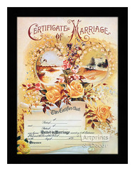 Marriage Certificate - Framed Art Print