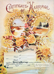Marriage Certificate - Art Print