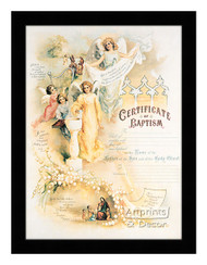 Certificate of Baptism - Framed Art Print