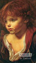 Ragazzo Biondo by J.B. Greuze - Art Print