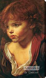 Ragazzo Biondo by J.B. Greuze - Stretched Canvas Art Print