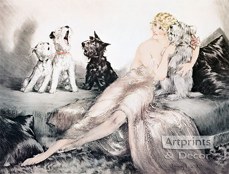 Perfect Harmony by Louis Icart - Framed Art Print
