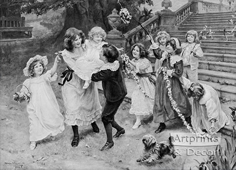 Baby's Birthday by Arthur J. Elsley - Art Print