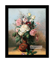 Bouquet of Roses - Framed Art Print