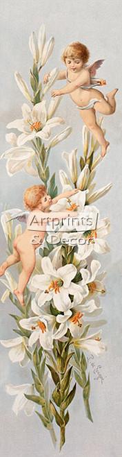 Easter Greeting by Paul de Longpre - Framed Art Print