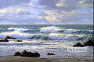 Emerald Tide by Robert Richert - Stretched Canvas Art Print