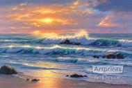 Golden Shore by Robert Richert - Art Print