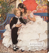 David Copperfield and His Mother by Jessie Wilcox Smith - Stretched Canvas Art Print