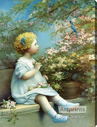 The Song of Happiness by Annie Benson Müller - Stretched Canvas Art Print