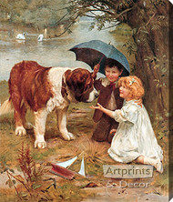 Room for One More by Arthur J. Elsley - Stretched Canvas Art Print