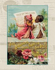 Five Brothers Plug Tobacco - Vintage Ad Art Print