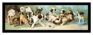Yard of Puppies - Framed Art Print