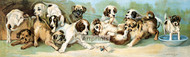 Yard of Puppies by C.L. Van Vredenburgh - Art Print
