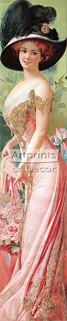 Society Lady - Framed Art Print