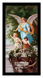 The Protecting Angel - Framed Art Print