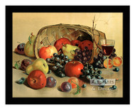 Fruit & Wine - Framed Art Print