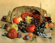 Fruit & Wine by H. Raymann - Art Print