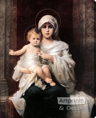 Madonna & Child by Nathaniel Sichel - Stretched Canvas Art Print