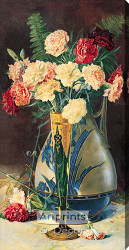 Carnations - Stretched Canvas Art Print