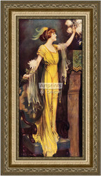 A Queen of Society - Framed Art Print