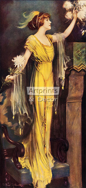 A Queen of Society by Charles Allan Gilbert - Art Print
