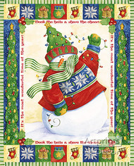 Snowman Lites by Vicky Howard - Art Print