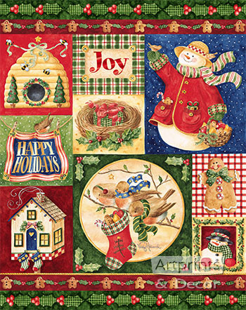 Christmas in the Garden by Vicky Howard - Art Print