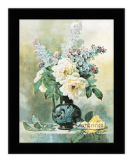 Lilacs & Roses - Framed Art Print