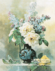 Lilacs & Roses by Paul de Longpre - Art Print
