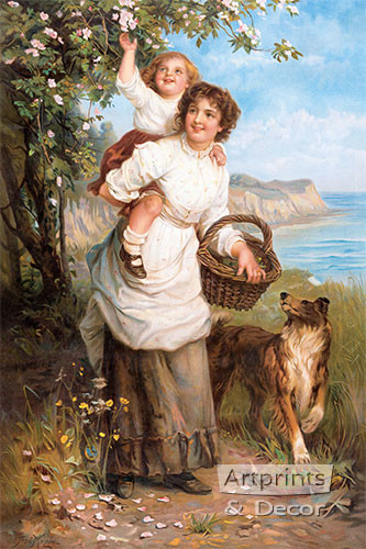 Life's Sunny Hours by Frederick Morgan - Framed Art Print