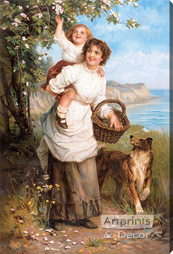 Life's Sunny Hours by Frederick Morgan - Stretched Canvas Art Print
