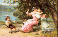 The Swing by Frederick Morgan - Stretched Canvas Art Print