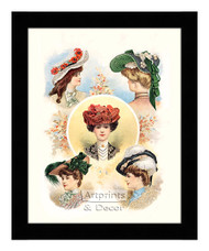 Paris Hats For The Early Autumn - Framed Art Print